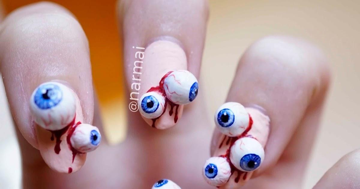 Piggieluv Eyeballs Nail Art For Halloween