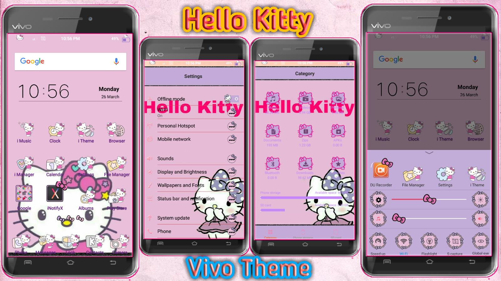Latest Hello Kitty Theme for Vivo Smartphones - Vivo Themes