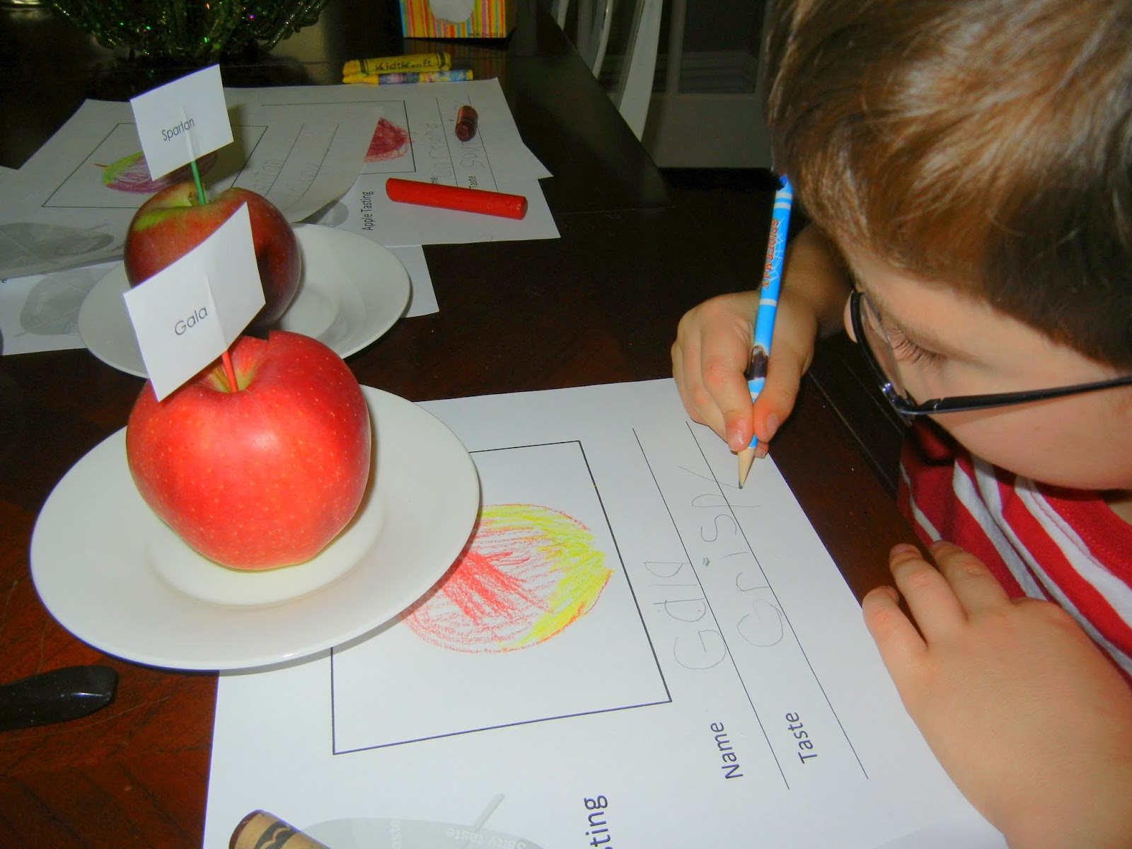 Fall Apple Tasting Activity With Kids Fall Science Amp Nature Activities At Home