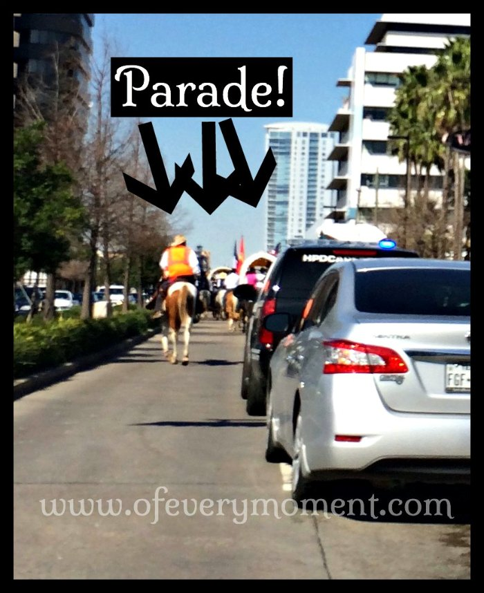 A parade in Houston