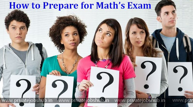 How to Prepare for Math's Exam