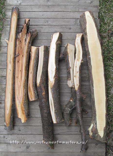 древесина плодовых деревьев