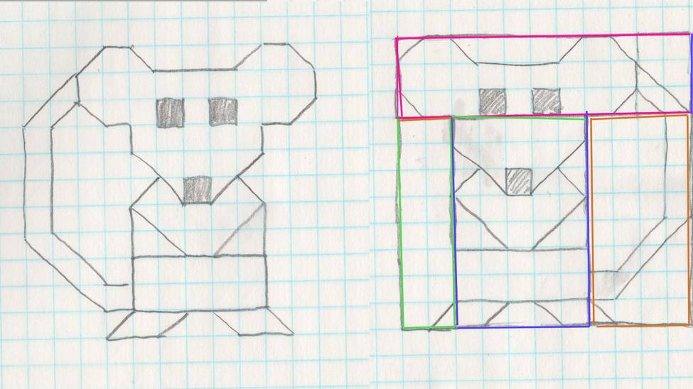 Graph Paper Drawings Como dibujar a Agumon Para Minecraft Pixel