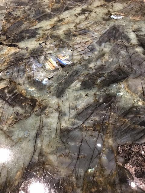 slab of Green Labradorite Granite