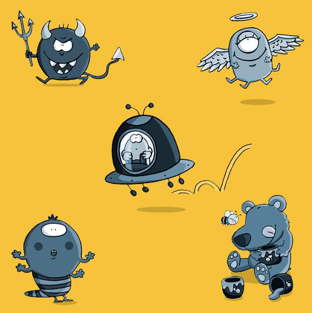 monstruos, ana sáez del arco, illustration, ilustración