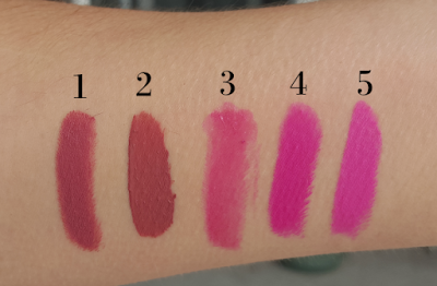 first time applying pink lipstick swatches
