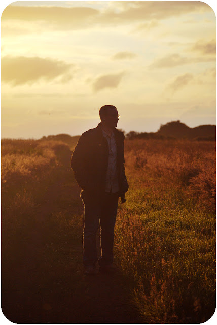 Dad at Sunset - Loch of Strathbeg nature reserve