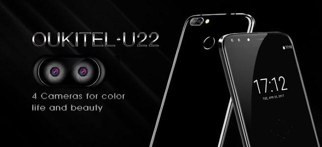 Oukitel U22, Smartphone Pertama Didunia Dengan 4 Kamera