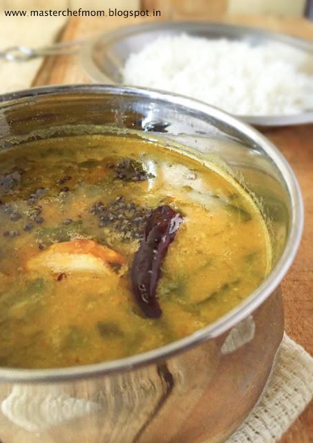 Andhra Style Palak Dal | Palakura Pappu | Spicy Spinach Dal from Andhra Pradesh