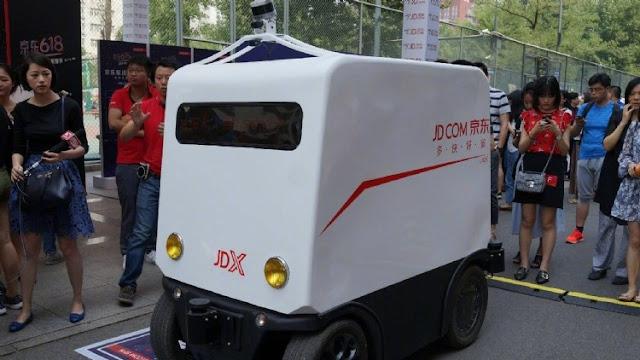 Raksasa E-Commerce China, JD.COM Kembangkan Mobil Pengirim Barang Otomatis
