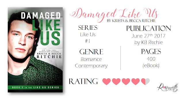 #BookReview: Damaged Like Us by Krista & Becca Ritchie (@KBRitchie)