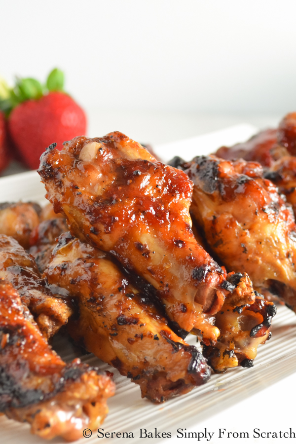 24 Tailgating Recipes You Can't Live Without! Roasted Strawberry Chipotle Hot Wings