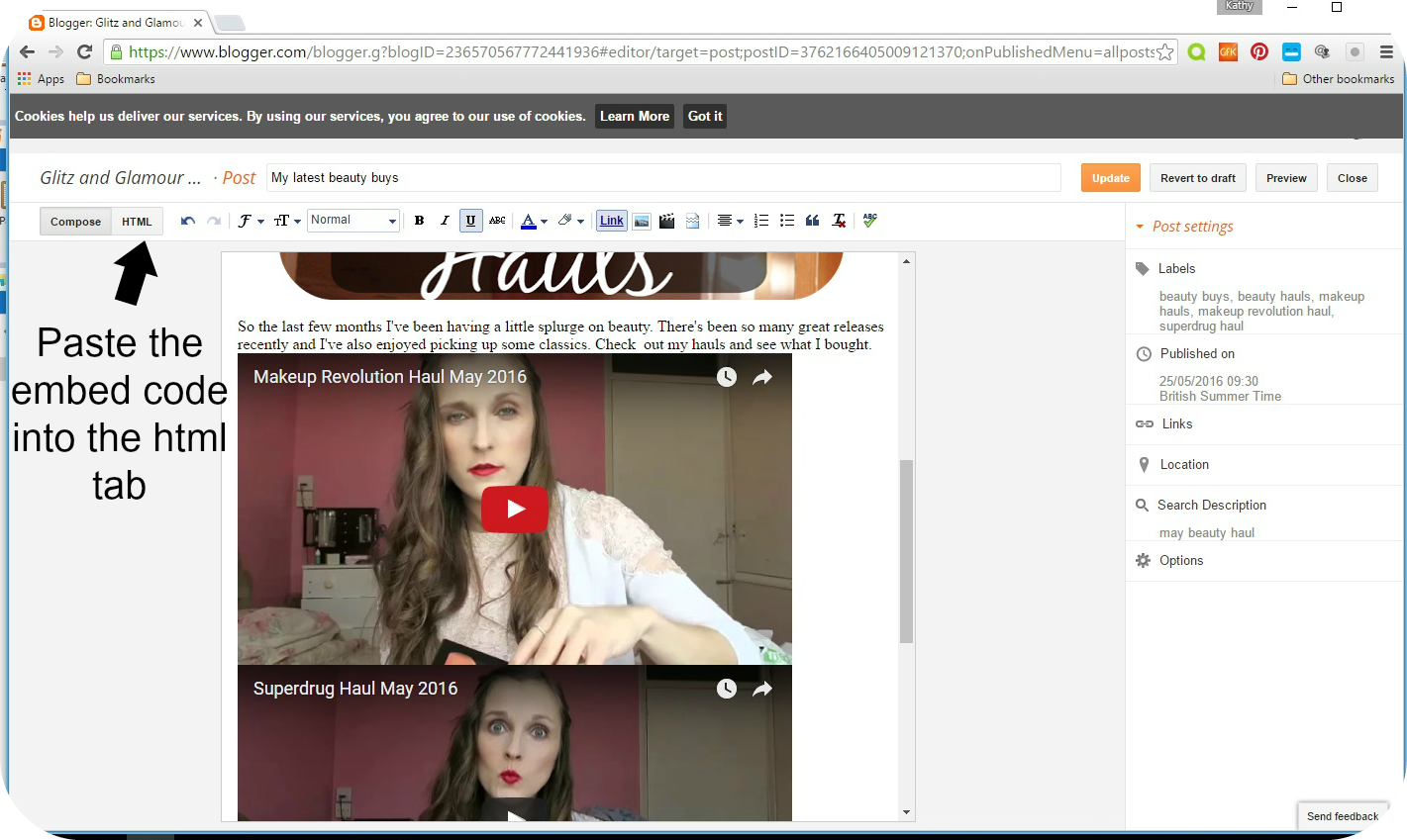 tips on embedding youtube videos into your blog post