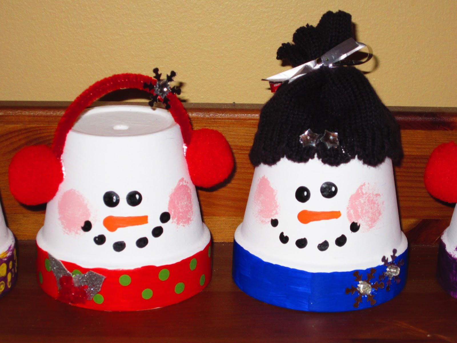 Classroom DIY: DIY Flower Pot Snowmen