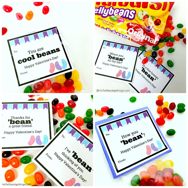 Printable Jelly Bean Valentines @michellepaigebogs.com