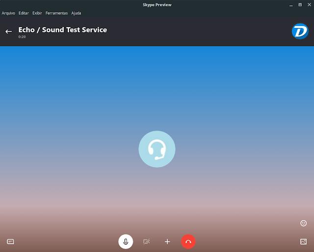 testando o novo Skype