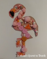 Flamingo bead craft