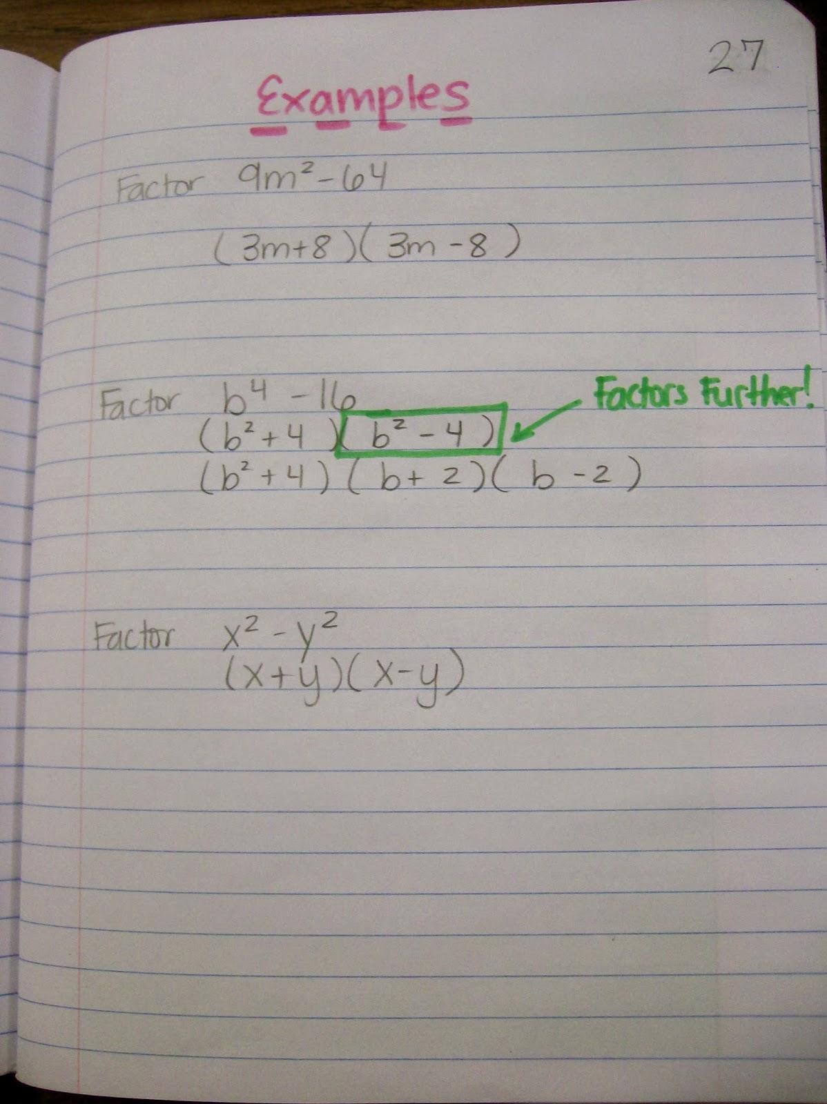 Math Love Algebra 1 Inb Pages