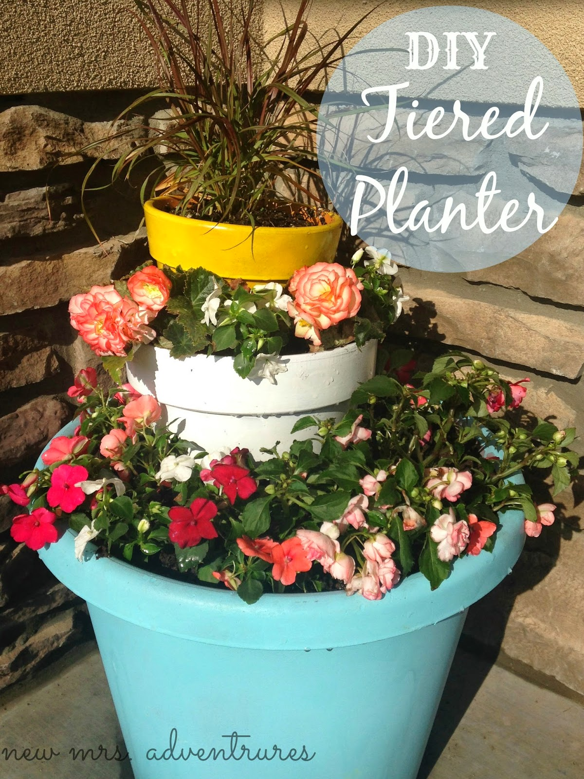 Spring DIY Tiered Planter