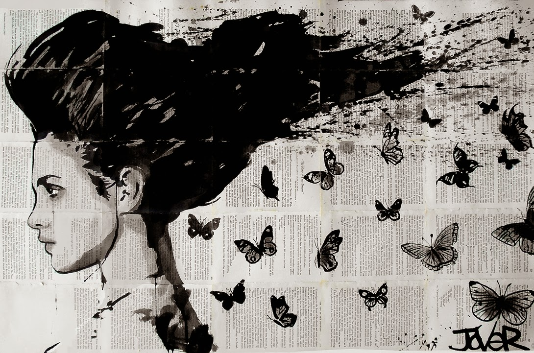 Painting Inspiration: Loui Jover, 1967 ~ Vintage Black And White
