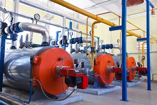 Gas fired industrial steam boilers