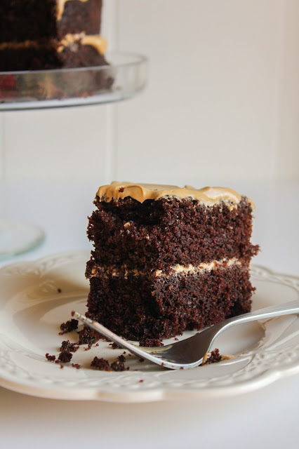 Rich Chocolate Cake with Coffee Frosting | The Chef Next Door