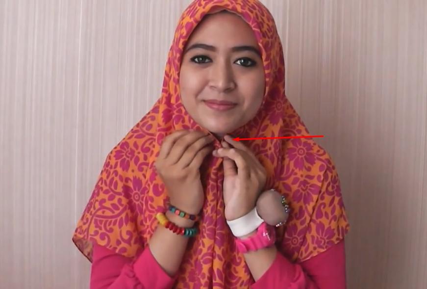 Tutorial Hijab Segi Empat Simpel Ala Natasha Farani All Tutorial Sharing