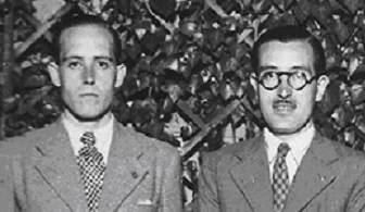 Los ajedrecistas Àngel Ribera y Pere Cherta