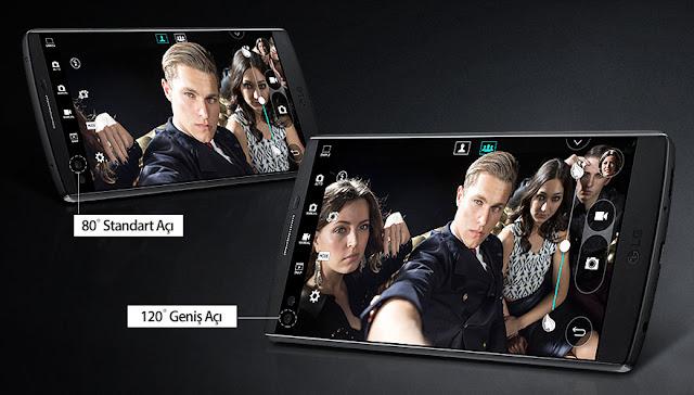 V10 çift ön kameraya sahip