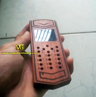 Vỏ gỗ điện thoại giá rẻ . Vỏ gỗ rồng vertu