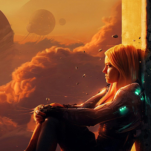 Girl On The Edge Wallpaper Engine