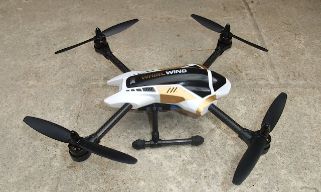 XK X251 Quadcopter Side View
