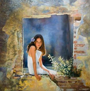 retratos-tiernas-niñas-pinturas