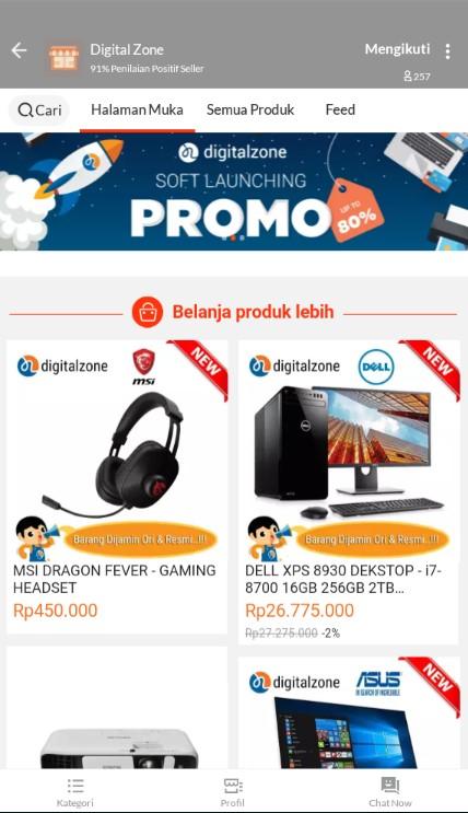 Toko Komputer Terlaris DIGITAL ZONE di Marketplace Lazada.