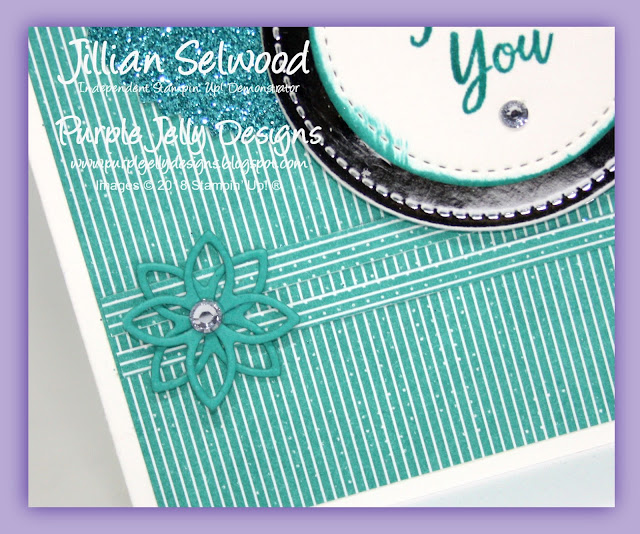 Flourish Thinlit Dies, Southen Serenade, Sparkle Shimmer and shine card