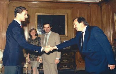 Felipe VI, Kasparov y Ricardo Calvo Mínguez