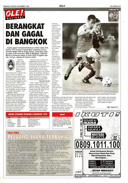TIM NASIONAL INDONESIA GAGAL DI BANGKOK