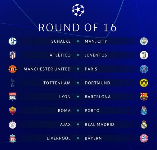 Jadwal Lengkap Babak 16 Besar Liga Champions 2018-2019 Live RCTI