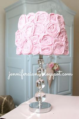 rinnovo paralume con rose di carta