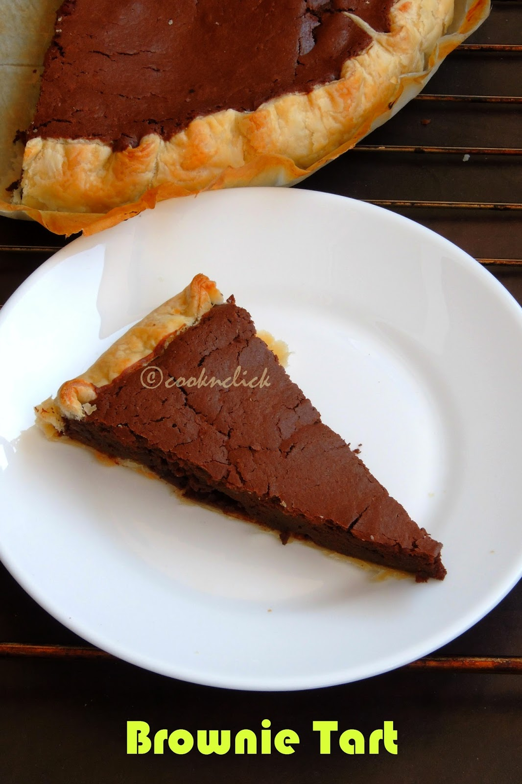 Chocolate brownie tart, brownie tart