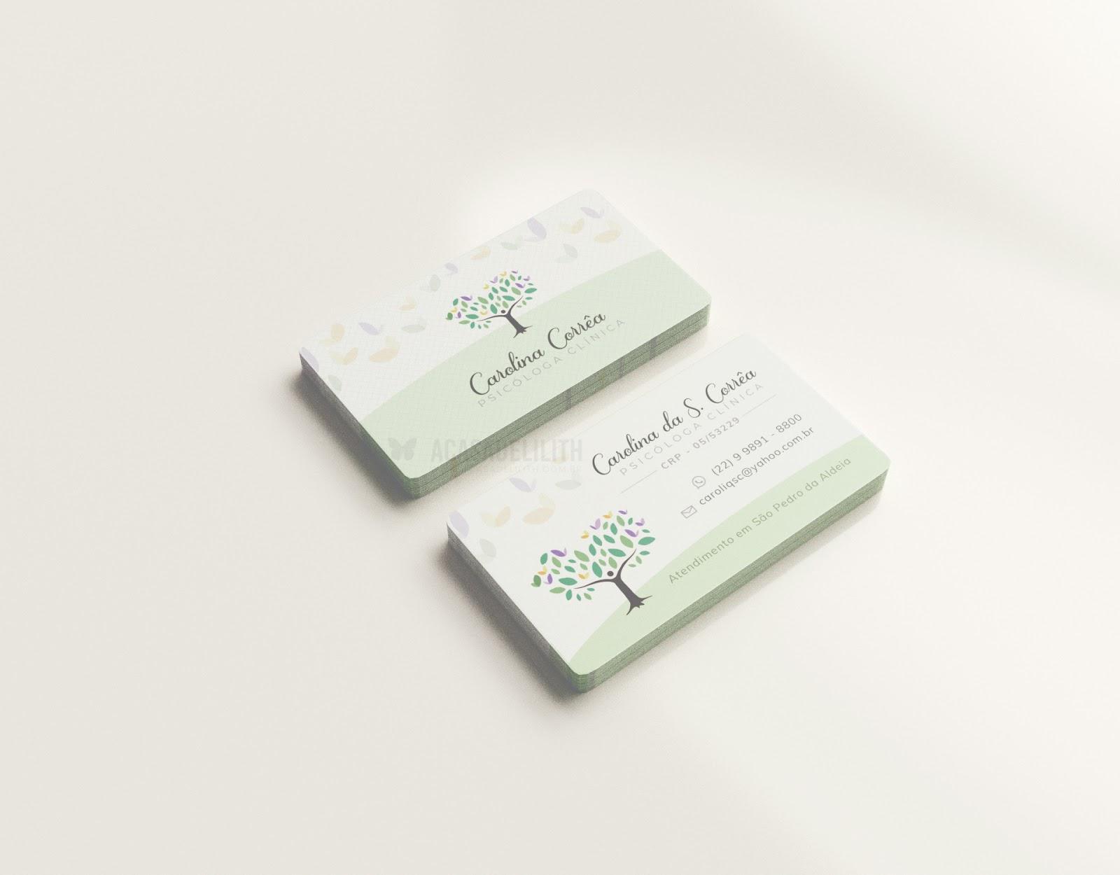 Graphic Design - psychologist business card - Logotipo e Cartão de Visita para Psicóloga