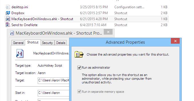 AutoHotKey Mac Keyboard on Windows 8