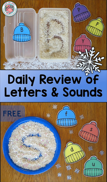 Enhance student engagement by using sensory writing trays as one way to review letters and sounds in preschool and kindergarten.
