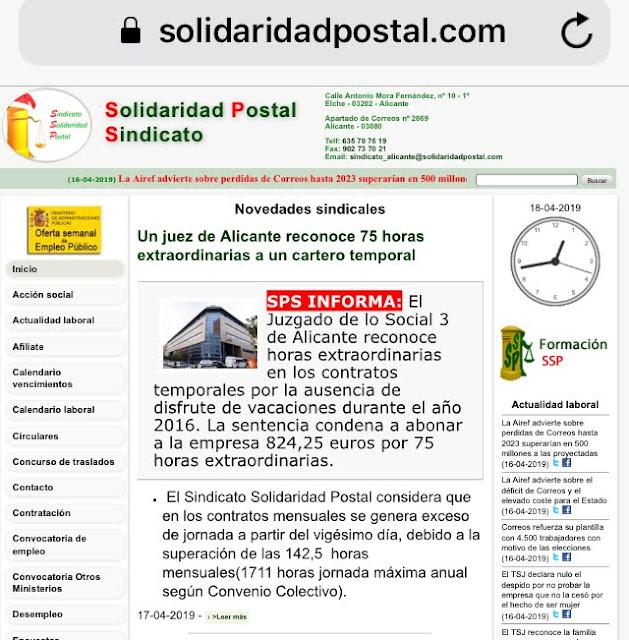 Calendario Laboral Elche.Solidaritat Postal Solidaridad Correusalacant