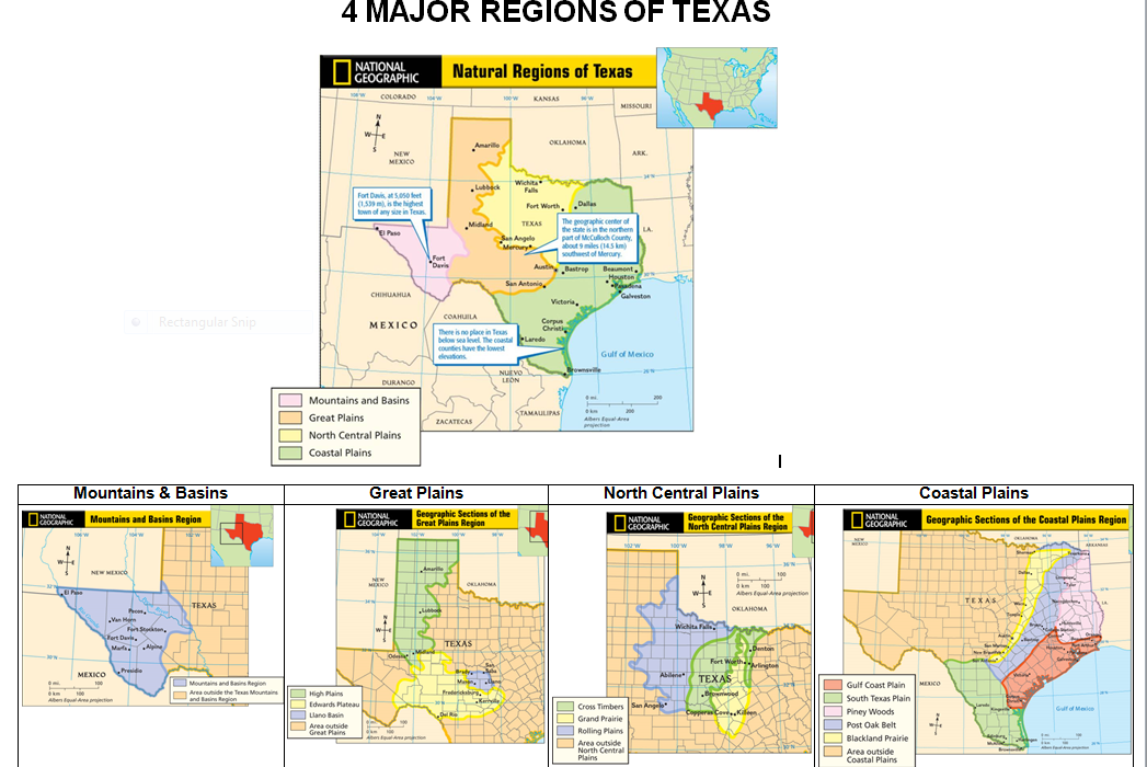 Map Of Texas Quiz.Grade 7 History Literature Logic Students My Maps Of Texas
