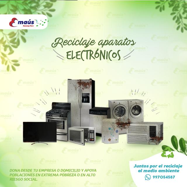 Reciclaje de Aparatos Electrónicos - Emaús Reciclaje Perú