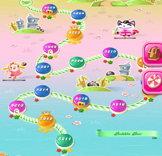 Candy Crush Saga level 5211-5225