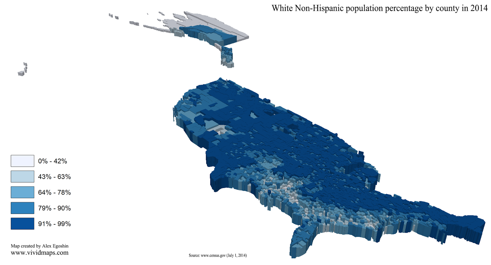 U.S. population by race (3D)