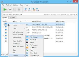 برنامج, عرض, الاجهزة, المتصلة, بشبكة, الانترنت, والتحكم, بها, و إجراء, فحص, لأرقام, آي, بي, Advanced ,IP ,Scanner ,اخر, اصدار