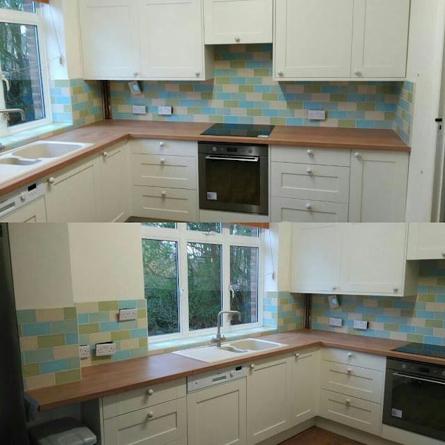 cocina azulejos tres colores reformas valencia